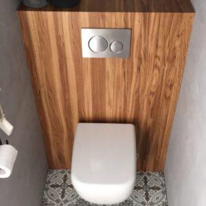 Toilet renovatieplaat