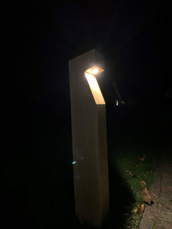 houten buitenlamp Eikenhout