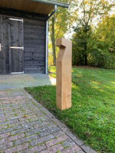 Buitenlamp Eiken hout