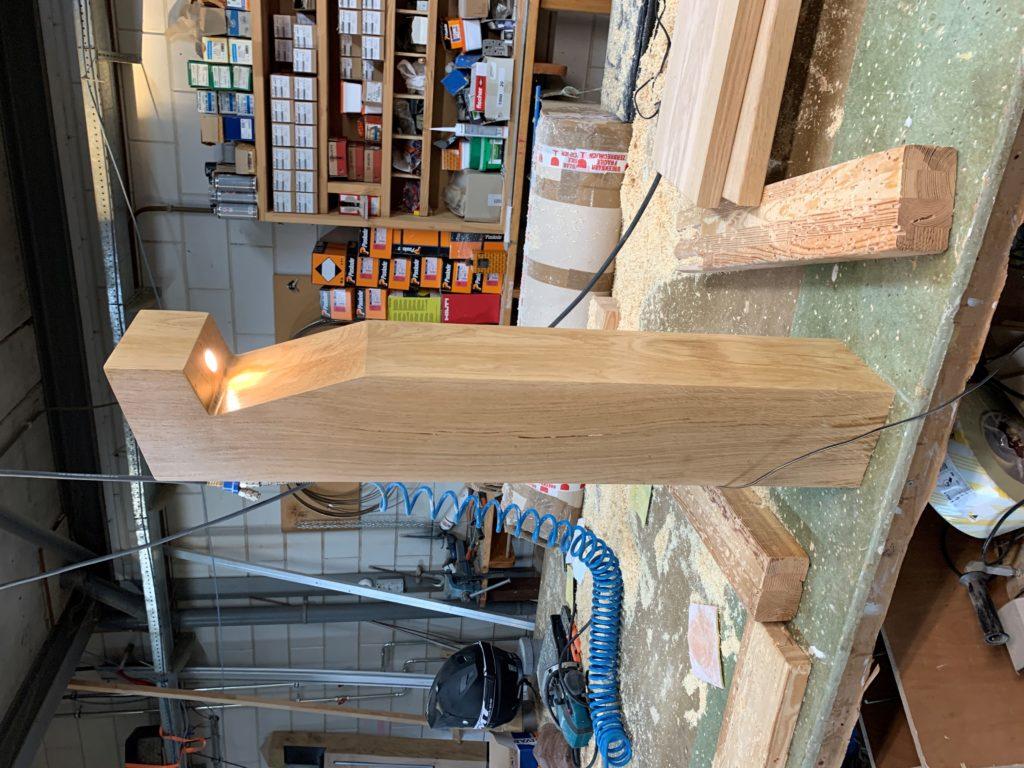 Eiken houten buitenlamp